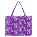 Cute Violet Elephants Pattern Medium Tote Bag View1