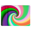Colorful Spiral Dragon Scales   Samsung Galaxy Tab 10.1  P7500 Flip Case View1