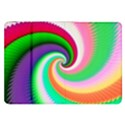 Colorful Spiral Dragon Scales   Samsung Galaxy Tab 8.9  P7300 Flip Case View1