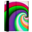 Colorful Spiral Dragon Scales   Samsung Galaxy Tab 8.9  P7300 Flip Case View3