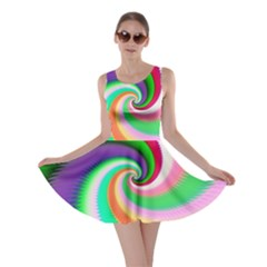 Colorful Spiral Dragon Scales   Skater Dress