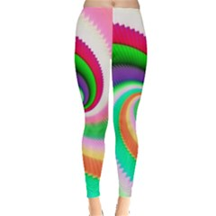 Colorful Spiral Dragon Scales   Leggings