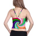 Colorful Spiral Dragon Scales   Spaghetti Strap Bra Top View2