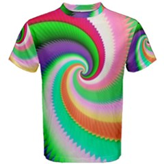 Colorful Spiral Dragon Scales   Men s Cotton Tee