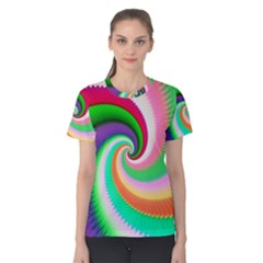 Colorful Spiral Dragon Scales   Women s Cotton Tee