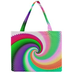 Colorful Spiral Dragon Scales   Mini Tote Bag
