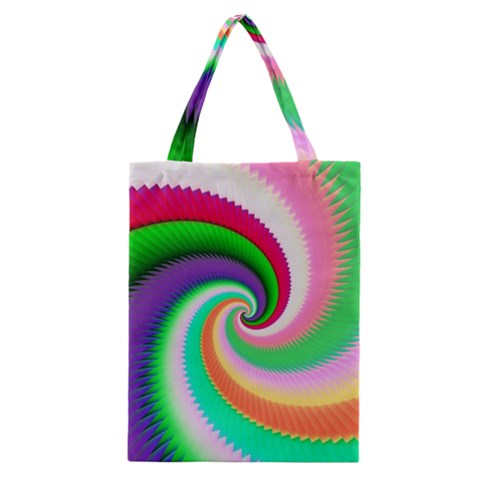 Colorful Spiral Dragon Scales   Classic Tote Bag