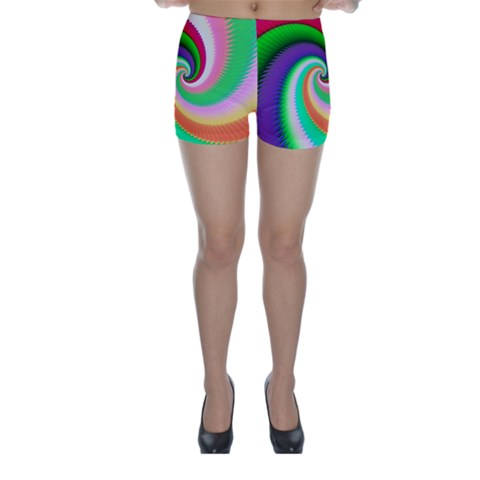 Colorful Spiral Dragon Scales   Skinny Shorts