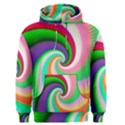 Colorful Spiral Dragon Scales   Men s Pullover Hoodie View1
