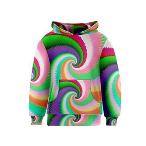 Colorful Spiral Dragon Scales   Kids  Pullover Hoodie