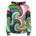 Colorful Spiral Dragon Scales   Women s Pullover Hoodie View1