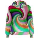 Colorful Spiral Dragon Scales   Women s Pullover Hoodie View2