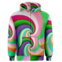 Colorful Spiral Dragon Scales   Men s Zipper Hoodie View1