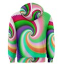 Colorful Spiral Dragon Scales   Men s Zipper Hoodie View2