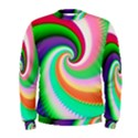 Colorful Spiral Dragon Scales   Men s Sweatshirt View1