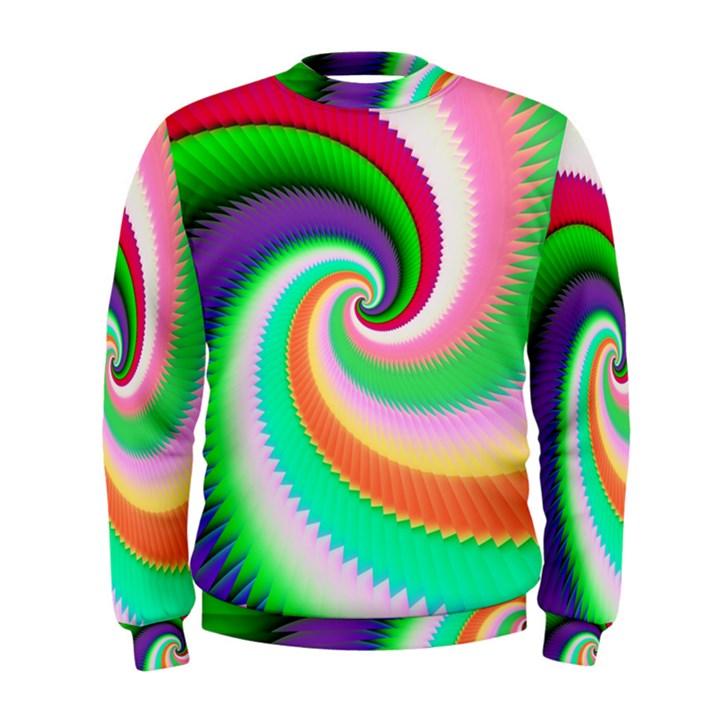 Colorful Spiral Dragon Scales   Men s Sweatshirt