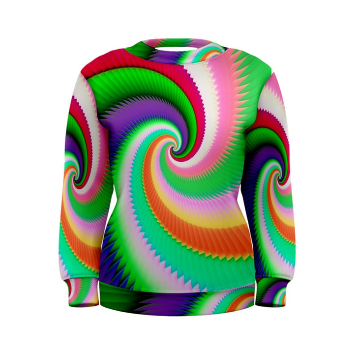Colorful Spiral Dragon Scales   Women s Sweatshirt