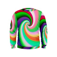Colorful Spiral Dragon Scales   Kids  Sweatshirt