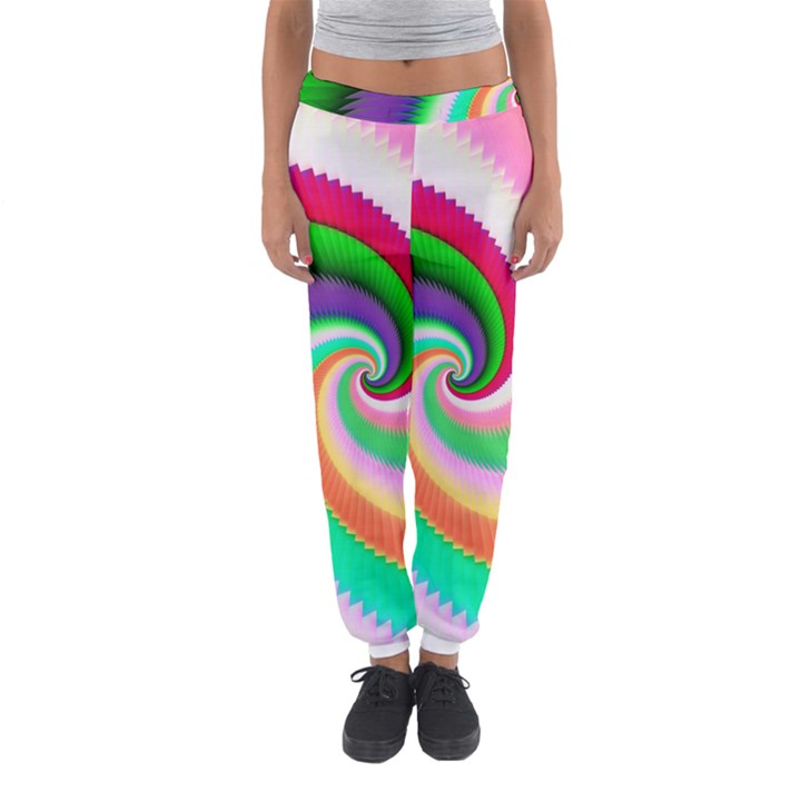 Colorful Spiral Dragon Scales   Women s Jogger Sweatpants