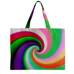 Colorful Spiral Dragon Scales   Zipper Mini Tote Bag