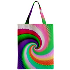 Colorful Spiral Dragon Scales   Zipper Classic Tote Bag
