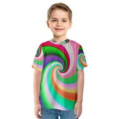 Colorful Spiral Dragon Scales   Kids  Sport Mesh Tee