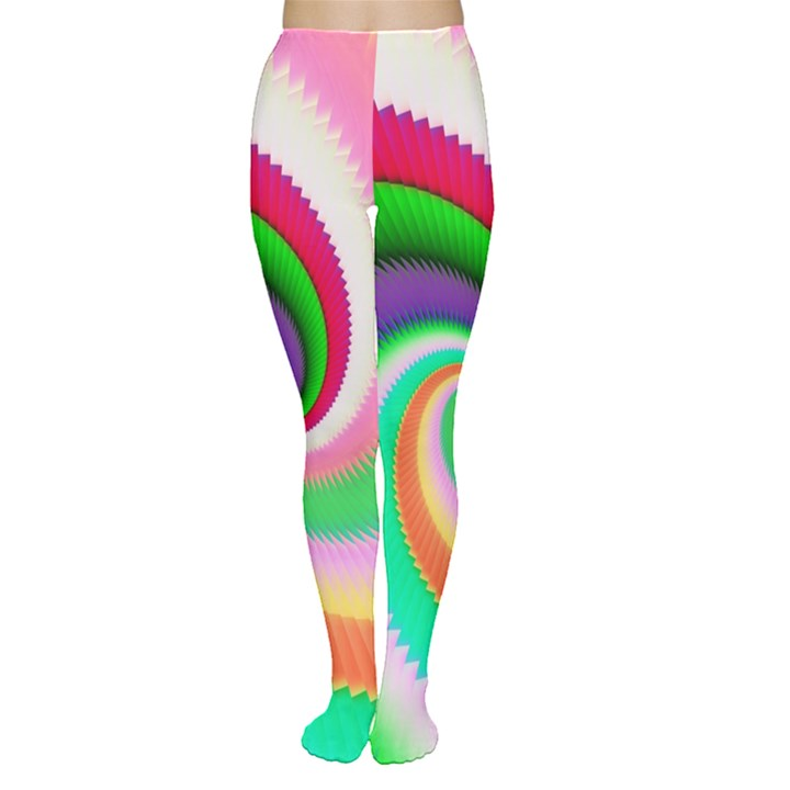 Colorful Spiral Dragon Scales   Women s Tights