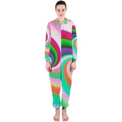 Colorful Spiral Dragon Scales   Hooded Jumpsuit (Ladies)