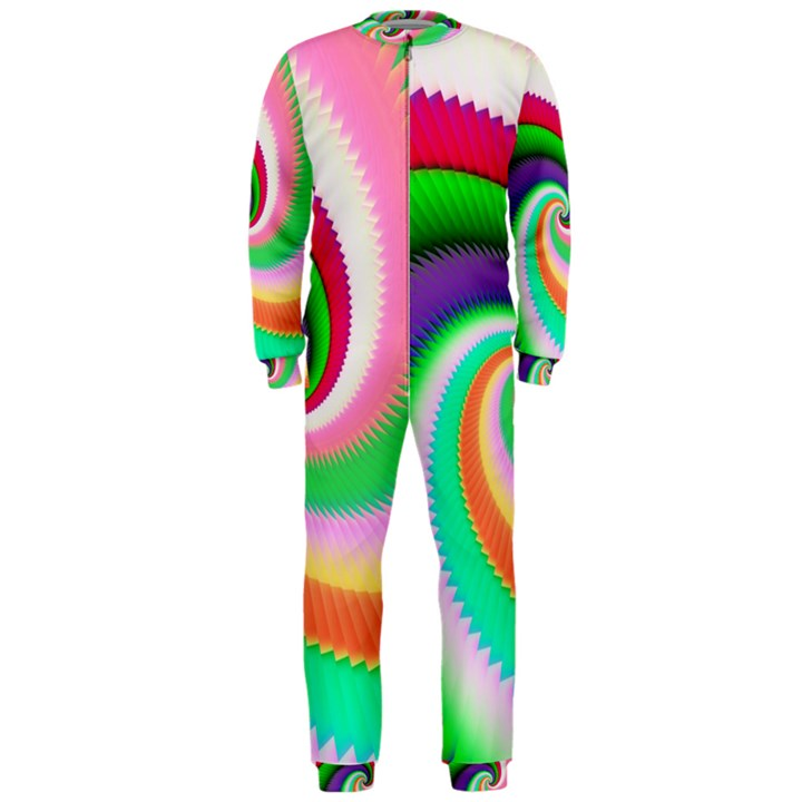 Colorful Spiral Dragon Scales   OnePiece Jumpsuit (Men)