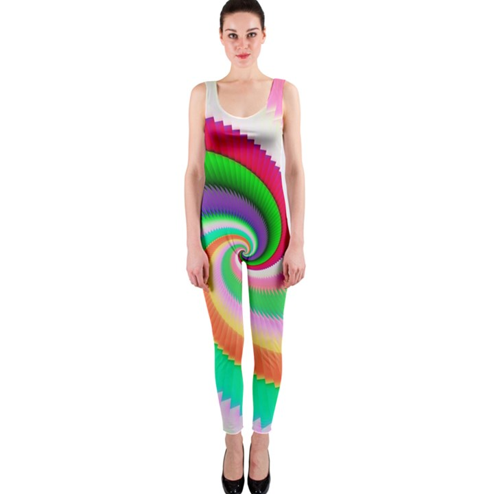 Colorful Spiral Dragon Scales   OnePiece Catsuit