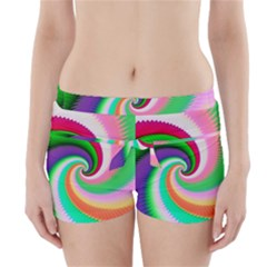 Colorful Spiral Dragon Scales   Boyleg Bikini Wrap Bottoms