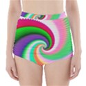 Colorful Spiral Dragon Scales   High-Waisted Bikini Bottoms View1