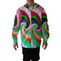 Colorful Spiral Dragon Scales   Hooded Wind Breaker (Kids) View1