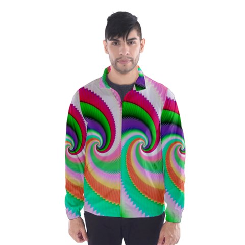 Colorful Spiral Dragon Scales   Wind Breaker (Men)