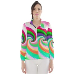 Colorful Spiral Dragon Scales   Wind Breaker (Women)