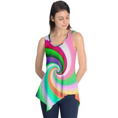 Colorful Spiral Dragon Scales   Sleeveless Tunic