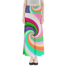 Colorful Spiral Dragon Scales   Maxi Skirts