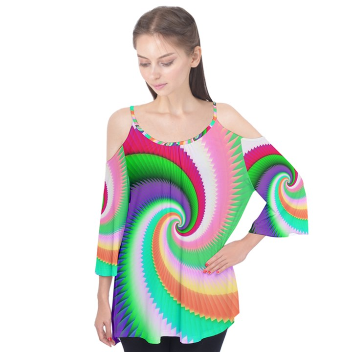 Colorful Spiral Dragon Scales   Flutter Tees