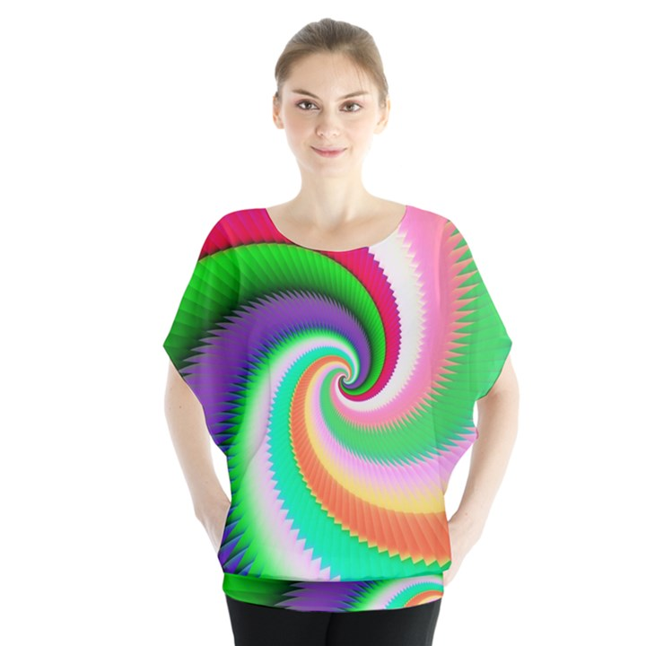 Colorful Spiral Dragon Scales   Blouse