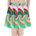 Colorful Spiral Dragon Scales   Pleated Mini Skirt View1