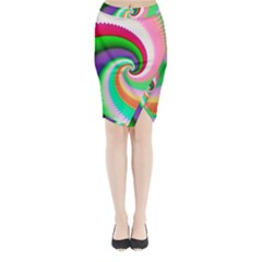 Colorful Spiral Dragon Scales   Midi Wrap Pencil Skirt