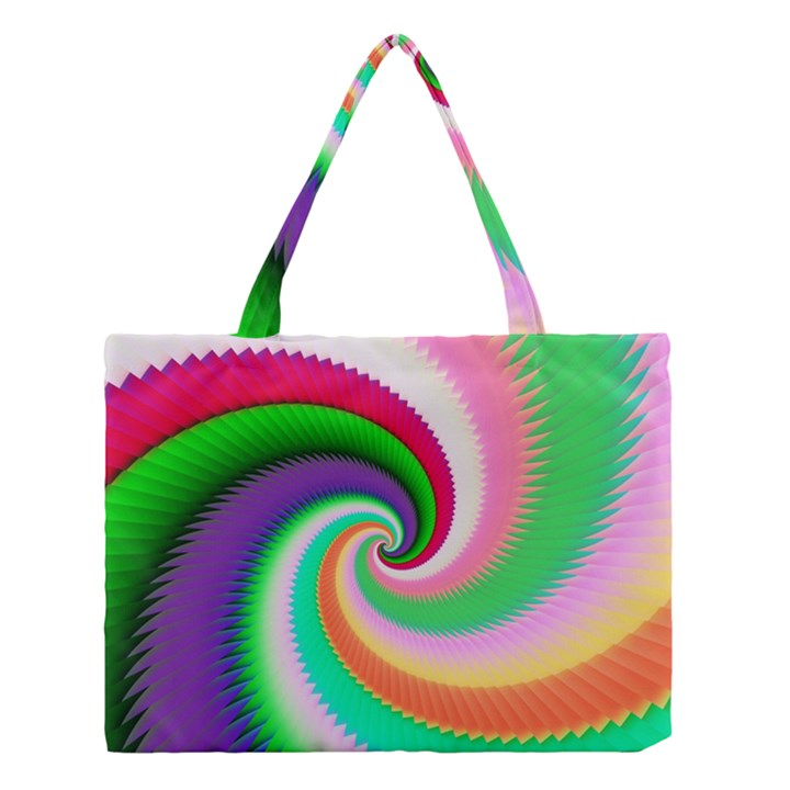 Colorful Spiral Dragon Scales   Medium Tote Bag