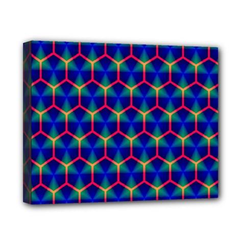 Honeycomb Fractal Art Canvas 10  x 8