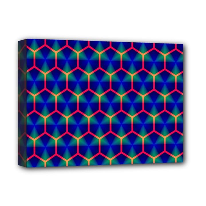 Honeycomb Fractal Art Deluxe Canvas 16  x 12