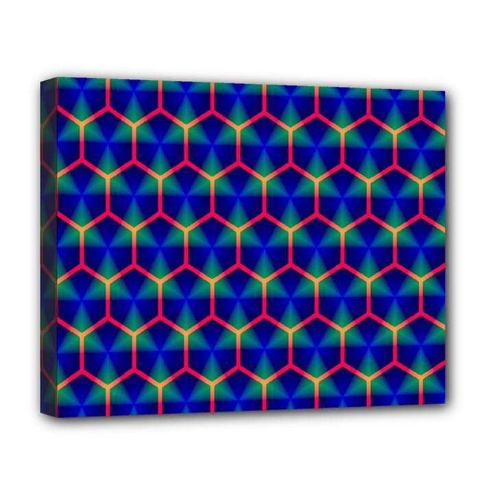 Honeycomb Fractal Art Deluxe Canvas 20  x 16