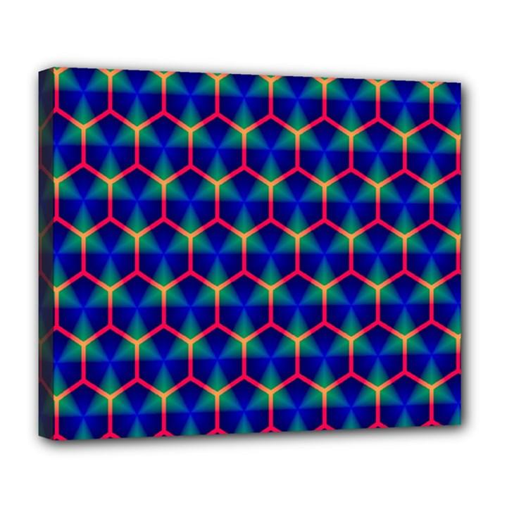 Honeycomb Fractal Art Deluxe Canvas 24  x 20