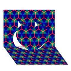 Honeycomb Fractal Art Heart 3D Greeting Card (7x5)
