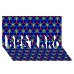 Honeycomb Fractal Art BEST BRO 3D Greeting Card (8x4)
