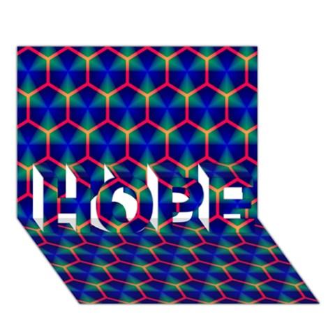 Honeycomb Fractal Art HOPE 3D Greeting Card (7x5)
