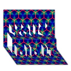 Honeycomb Fractal Art You Did It 3D Greeting Card (7x5)